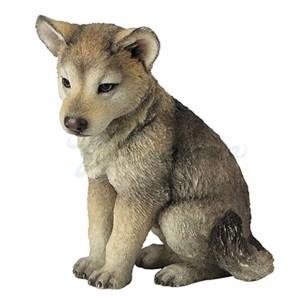 Wolf Pup sitting figurine