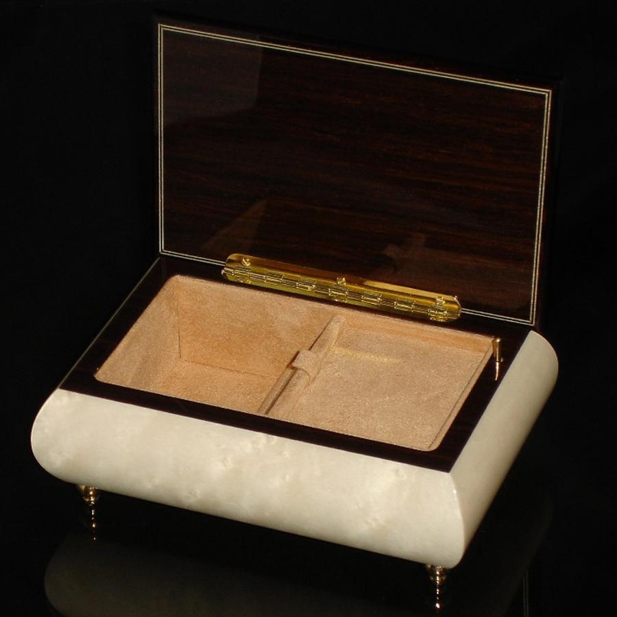Italian Jewelry Box White 04A opened