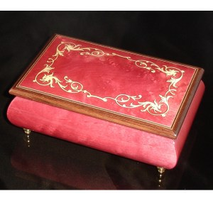 Italian Jewelry Box Wine Red 04A