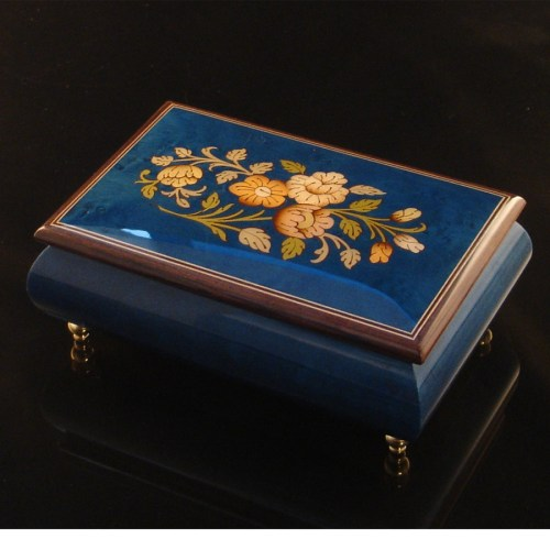 Italian Jewelry Box Dark Blue 04CF