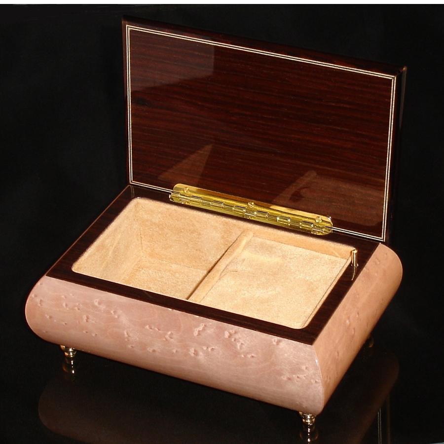 Italian Jewelry Box Light Pink 04CF opened