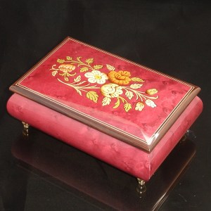 Italian Jewelry Box Wine Red 04CF