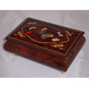Italian Jewelry Box Butterfly Elm 62