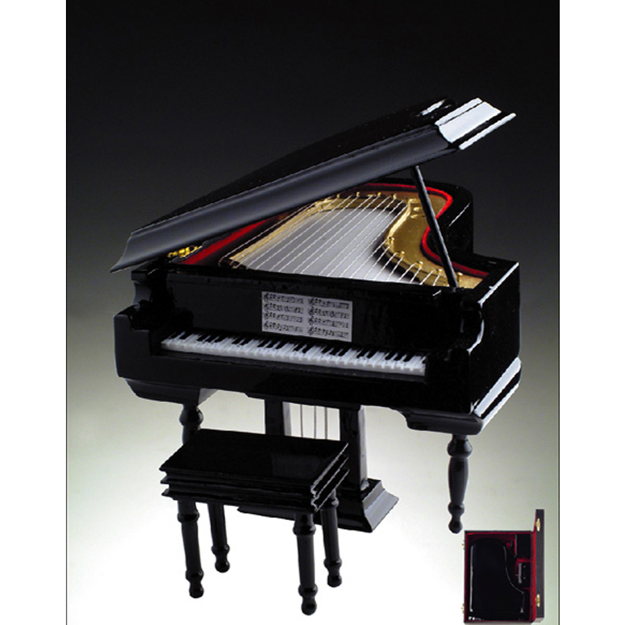 Miniature Musical Black Grand Piano