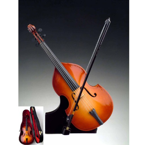 Miniature Bass with stand and case
