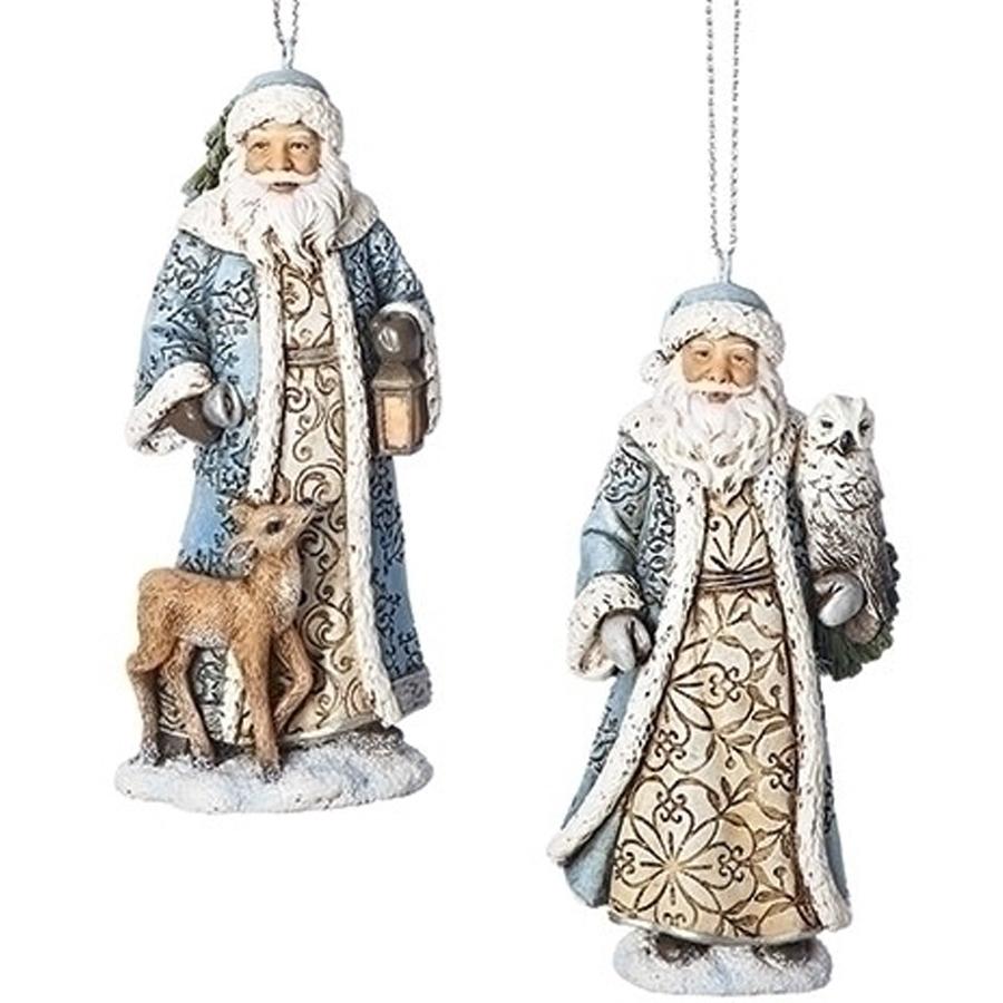 Ornament Santa in Blue