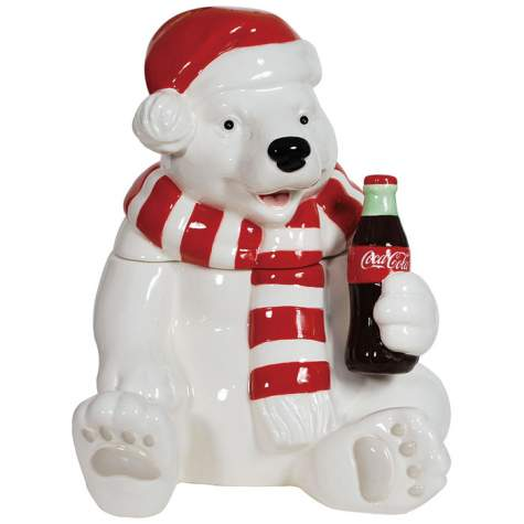 Holiday-Coca-Cola-Polar-Bear-Cookie-Jar