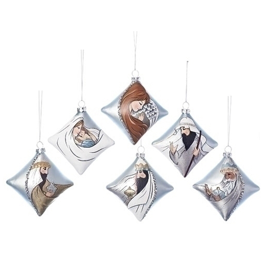 Ornament Nativity in Glass