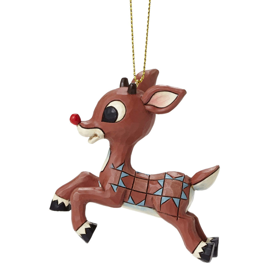 Rudolph Ornament by Jim Shore side view