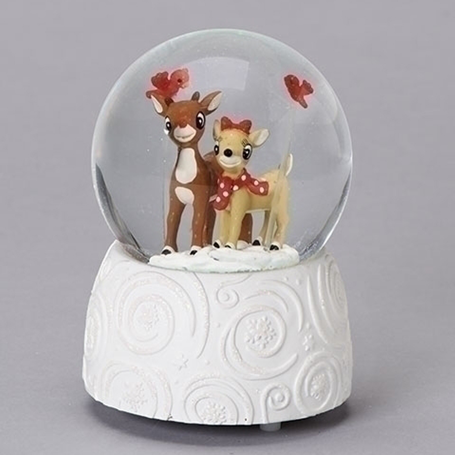 Rudolph and Clarice Musical Water Globe