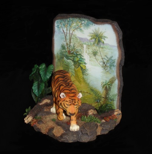 Tiger Sculpture side view