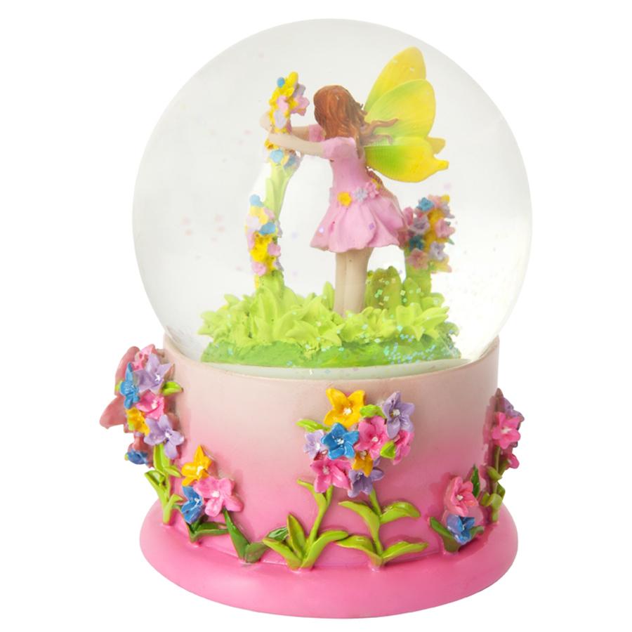 Fairytale water globe back side