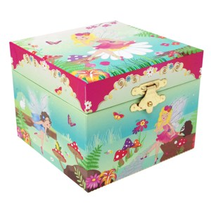 Forest Fairy small musical jewelry box front view