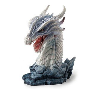 White Dragon Bust