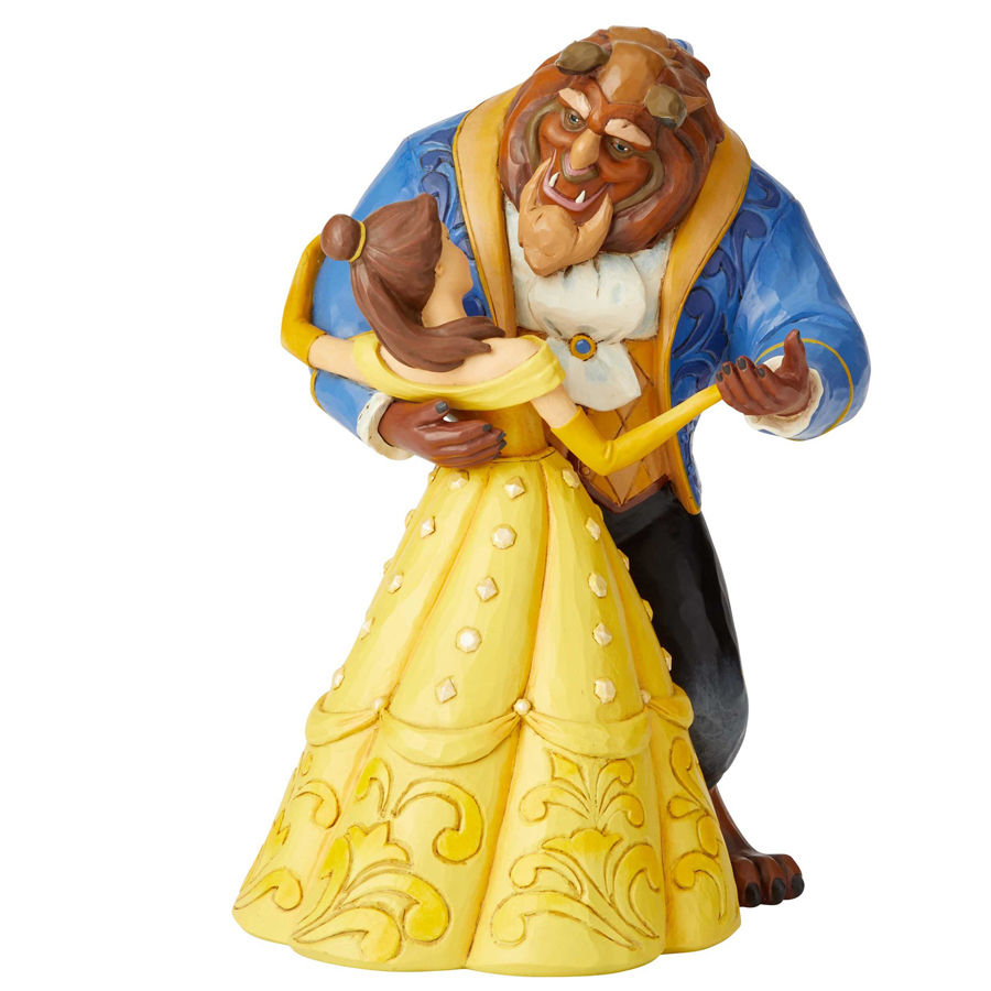 Beauty and the Beast Belle and Beast Dancing Jim Shore back view