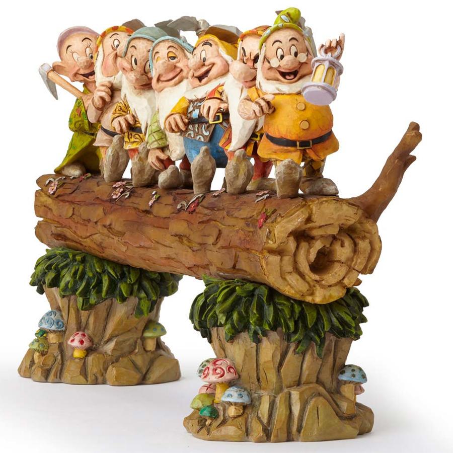 Seven Dwarfs on Log Front Angle