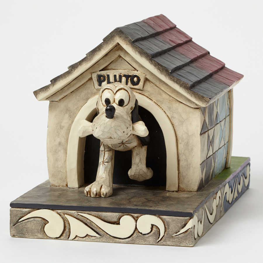 Pluto Then and Now figurine by Jim Shore vintage front view