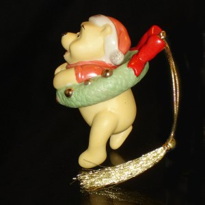 Pooh Ornament side view