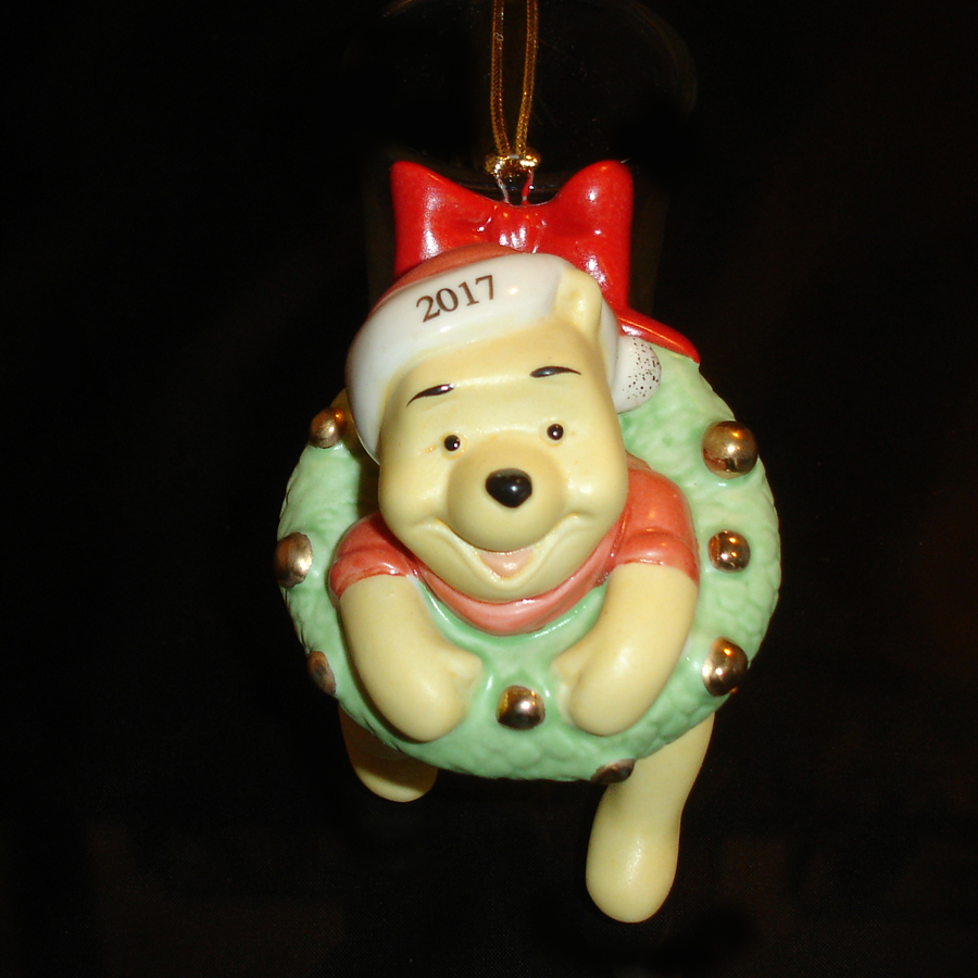 Pooh Ornament by Lenox top view
