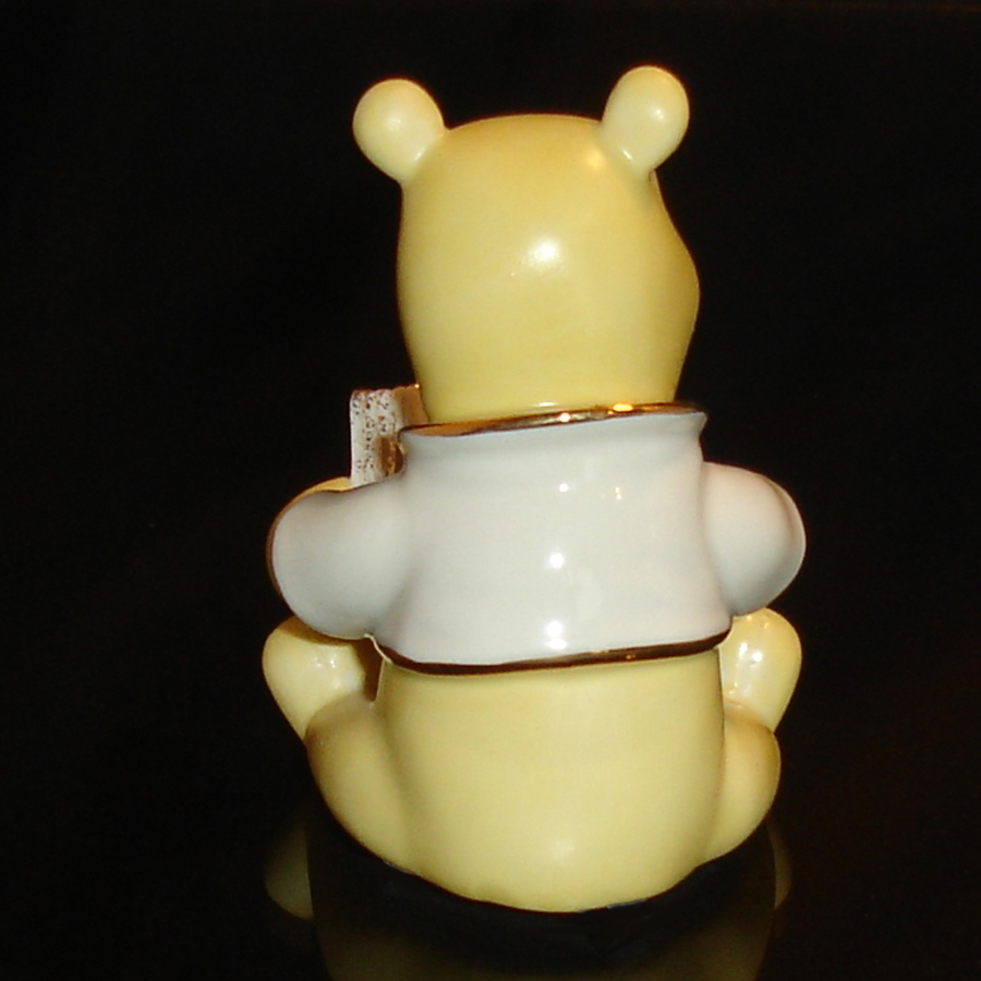 Pooh with Book Lenox back side