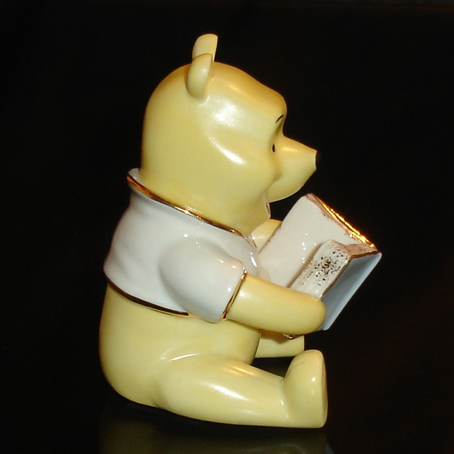 Pooh with Book Lenox right view
