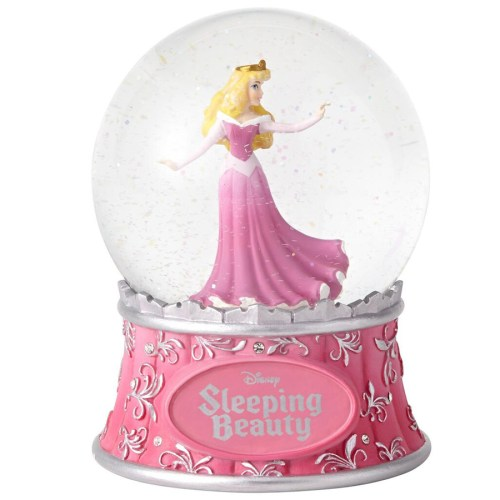 Sleeping Beauty globe with glitter swirl