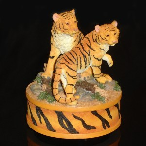 Tigers music box right angle view