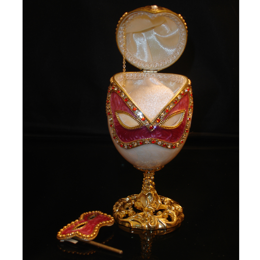 Mystic-Decorated-Goose-Egg-opened-with-mask
