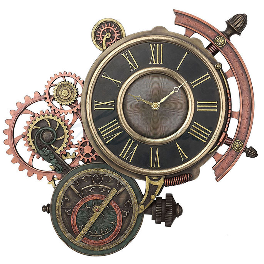 Steampunk-Astrolabe-Clock