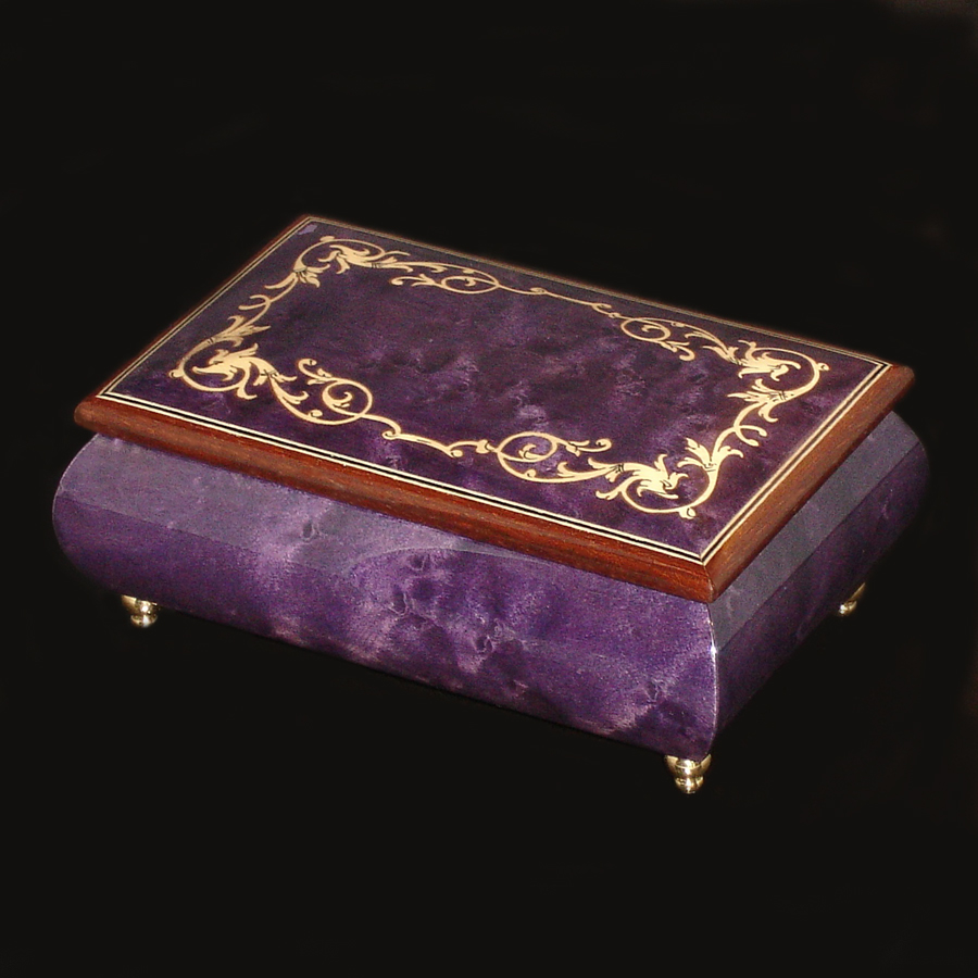 Purple-Italian-Inlay-Musical-Jewelry-Box