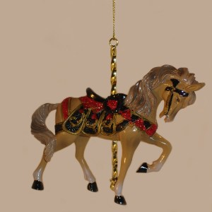 Tan-Carousel-Ornament