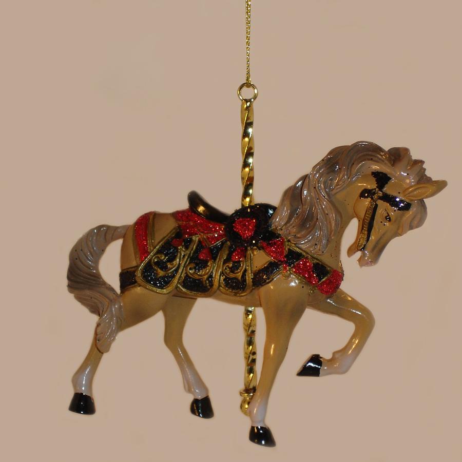 Tan-Carousel-Ornament