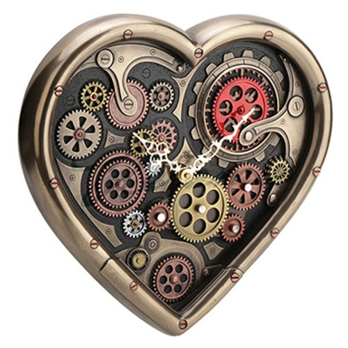 Heart-Shaped-Steampunk-Clock-left-view