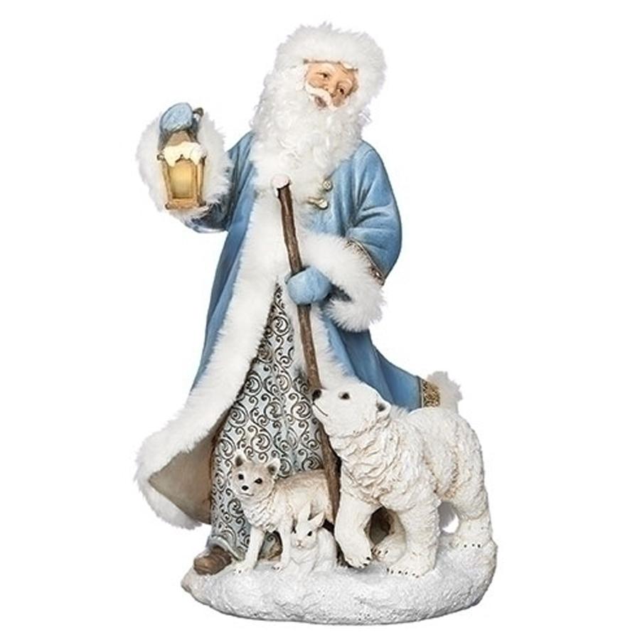Blue-Santa-Lantern-Polar-Bear