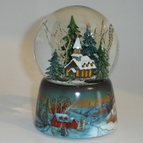Brown-Church-Snow-Globe