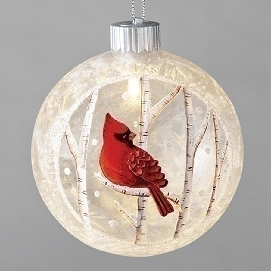 Cardinal-Glass-Round-Ornament