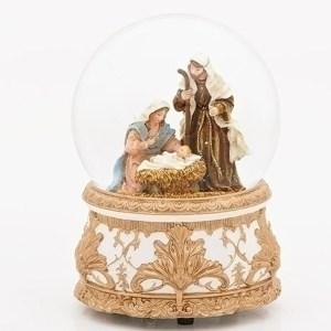 Holy-Family-Gold-Filigree-Snow-Globe