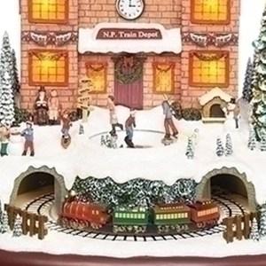 Polar-Train-Village-Depot-close-up