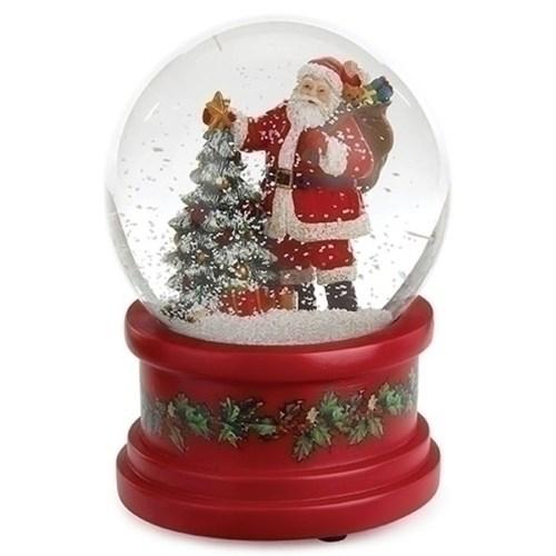 Santa-Tree-Snow-Globe-Red-Base