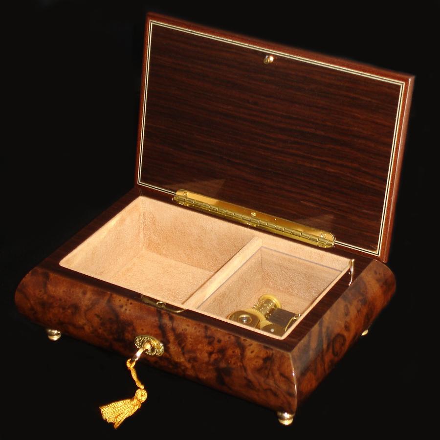 Italian-Inlay-Jewelry-Box-02A-Burl-Walnut-opened-no-cover