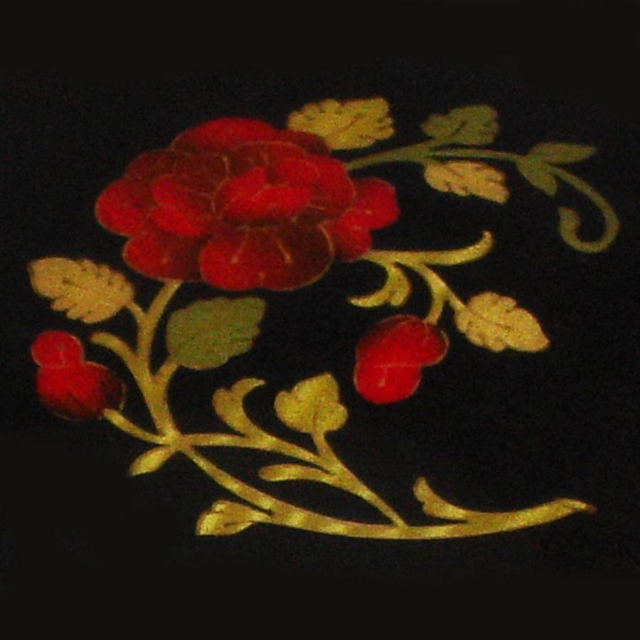 Italian Inlay-Rose-Black-close-up