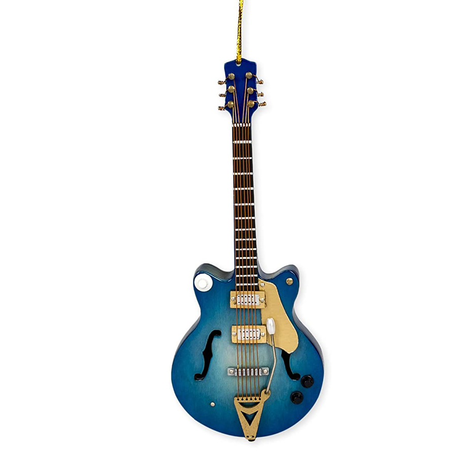 Blue-Electric-Guitar-Ornament