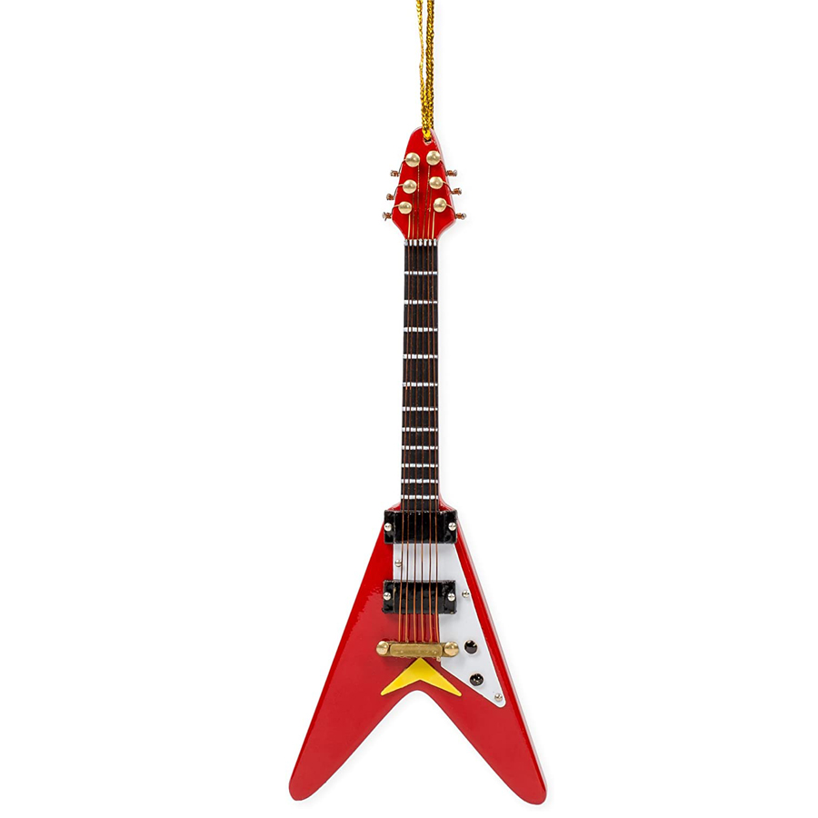 Red-Flying-V-Guitar-Ornament