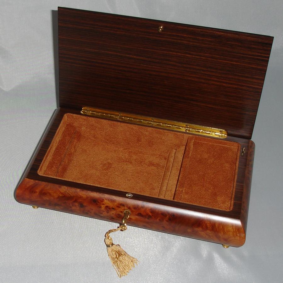 Italian-Inlay-Jewelry-Box Rosewood-opened