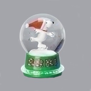 Snoopy-Neon-Mini-Snow-Globe-Green