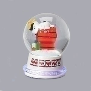 Snoopy-Neon-Mini-Snow-Globe-White