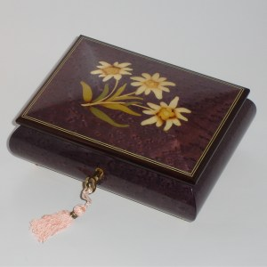 Italian-Inlay-Musical-Jewelry-Box-Daisies