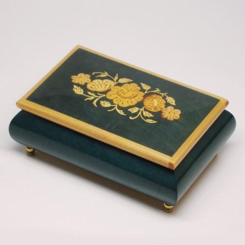 Italian-Inlay-Musical-Jewelry-Box-Flowers-Blue