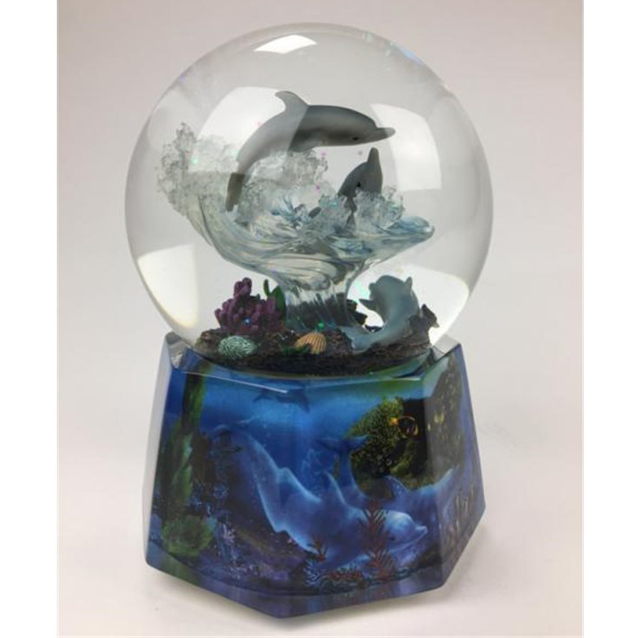 Dolphin-Snow-Globe-MK-back-view