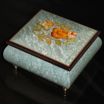 Italian-Inlay-Musical-Ring Box-Light-Blue